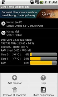 Core Temp Monitor Lite- screenshot thumbnail
