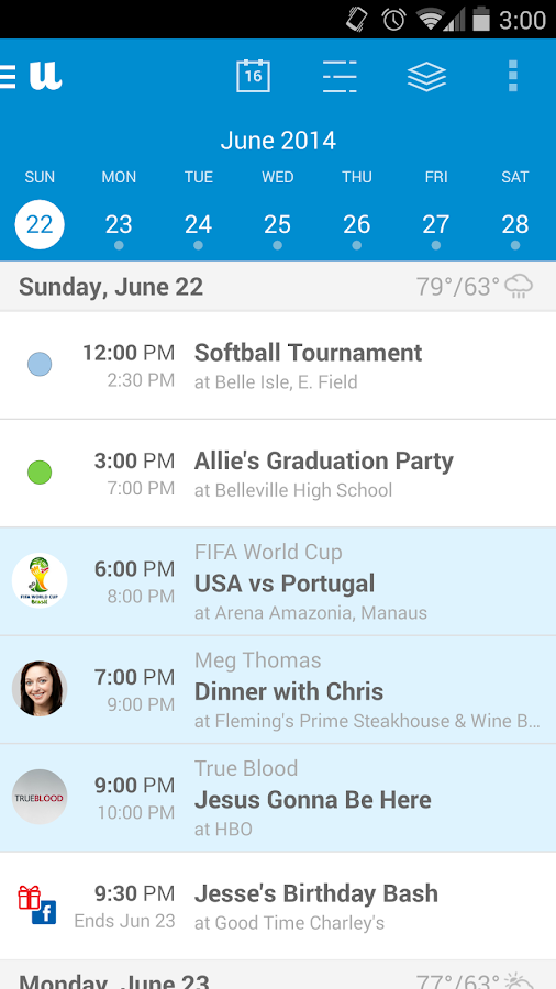 UpTo - Calendar and Widget- screenshot