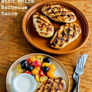 Grilled Chicken with White Barbecue Sauce.