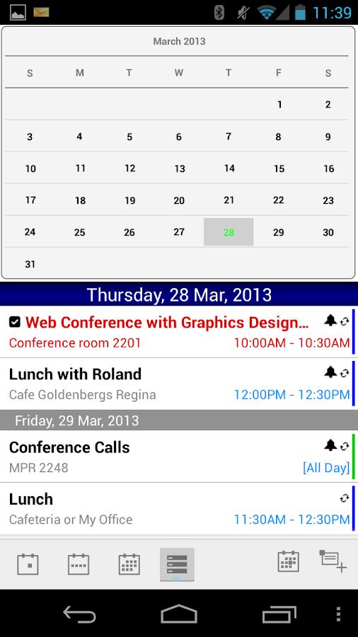 TouchDown For Outlook.com - screenshot