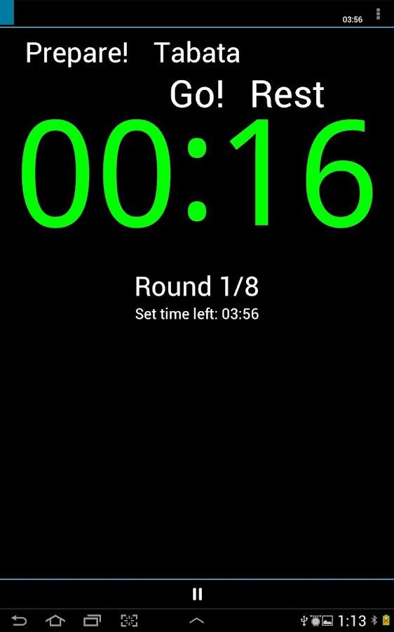 A HIIT Interval Timer - screenshot