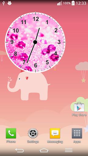 粉紅鑽石模擬時鐘