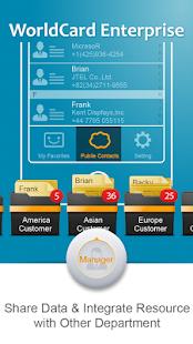WorldCard Enterprise - náhled