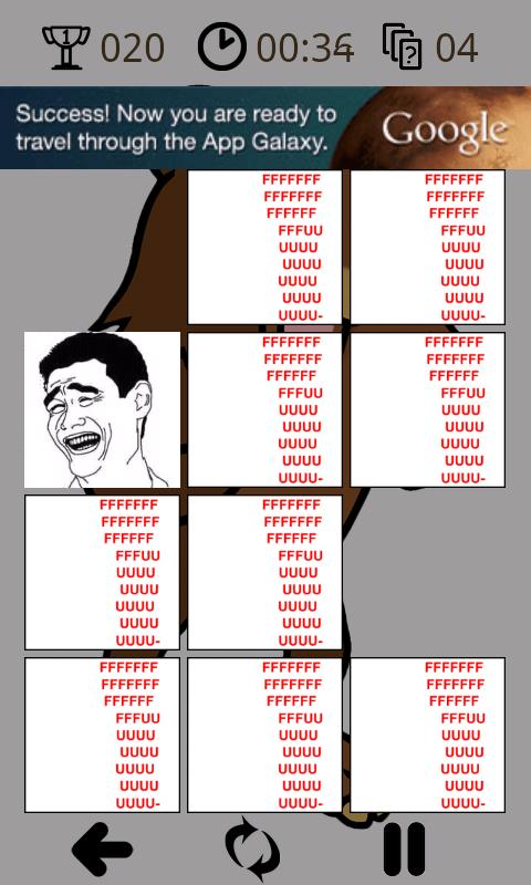 Rage comics memory - screenshot