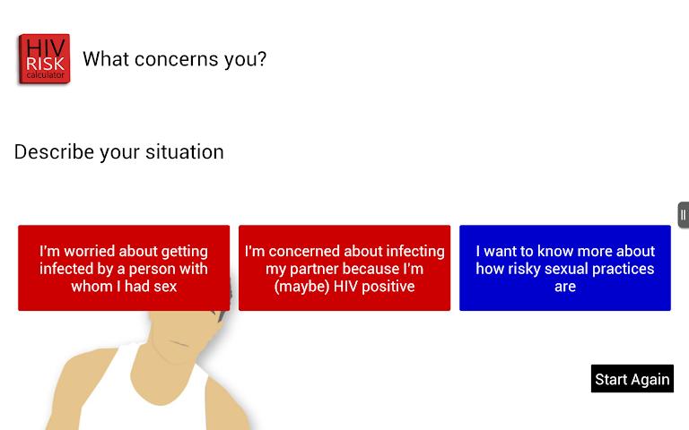 Screenshots for HIV RISK Calculator
