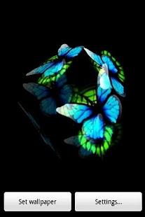 三維藍色蝴蝶2