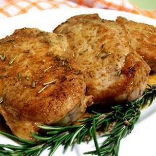 Pork Chops with Wine and Rosemary Recipe