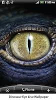 Screenshot of Dinosaur Eye Live Wallpaper