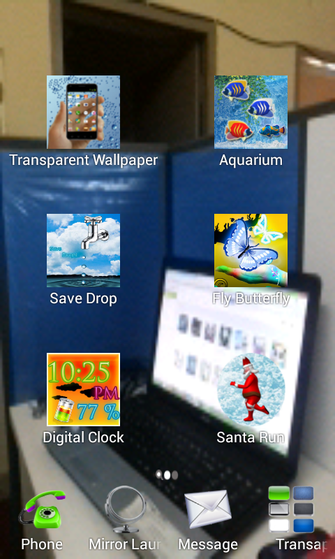 Transparent Screen Launcher - screenshot