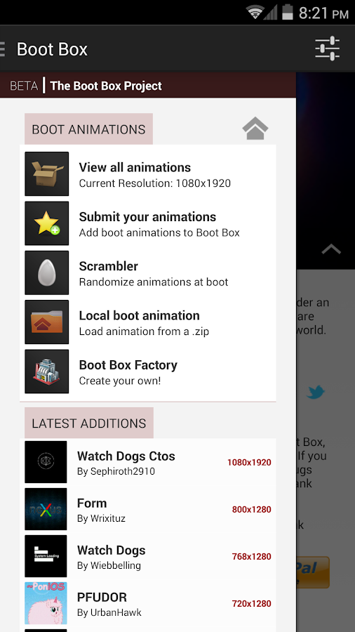 Boot Box- screenshot