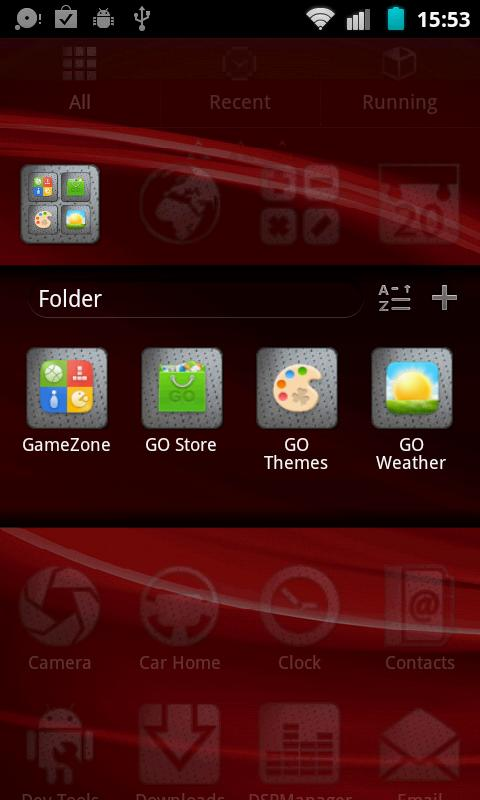Mitsubishi Go Launcher Theme - screenshot