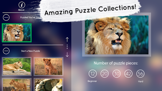 Venn Lions: Circle Jigsaw- screenshot thumbnail
