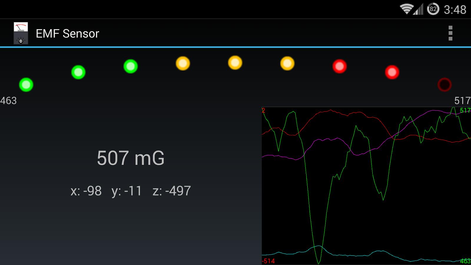 EMF Sensor - screenshot