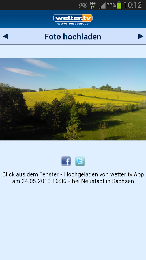 Wetter App Schweiz - wetter.tv - screenshot
