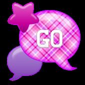 GO SMS - Bubble Purple Stars
