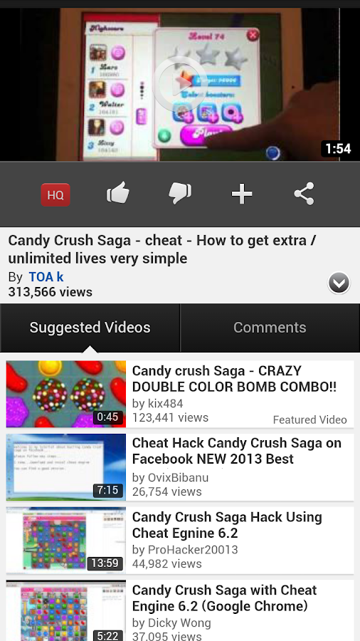 Candy Crush Unlimited Lives Android By Hackberry Android Apps