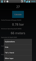 Screenshot of Scuba Extreme Nitrox Calc