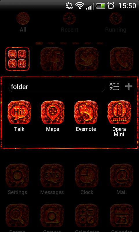 MAGMA Theme GO Launcher EX - screenshot