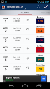 Football Schedule 2014 - screenshot thumbnail