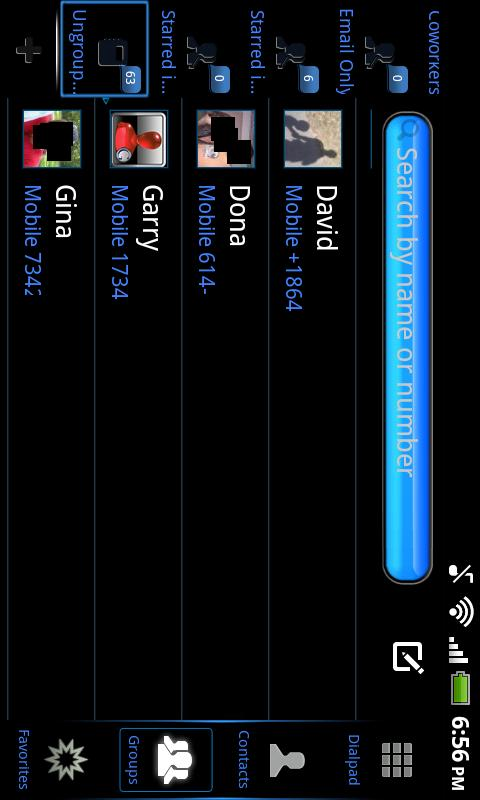 Black Mexdroid Go Contacts EX - screenshot