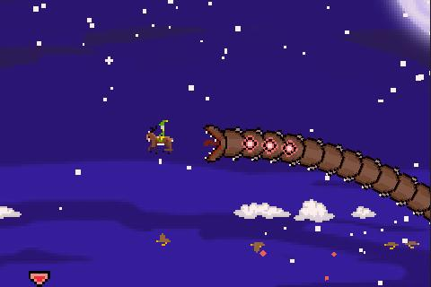 Super Mega Worm Vs Santa 2- screenshot