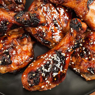 Sweet Soy-Glazed BBQ Chicken.