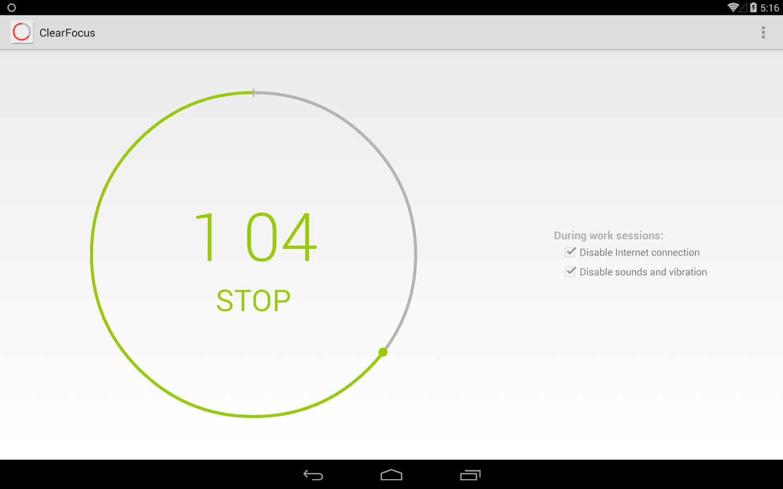 ClearFocus: Pomodoro Timer - screenshot