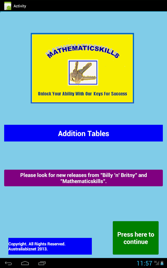 Addition Tables Free- screenshot