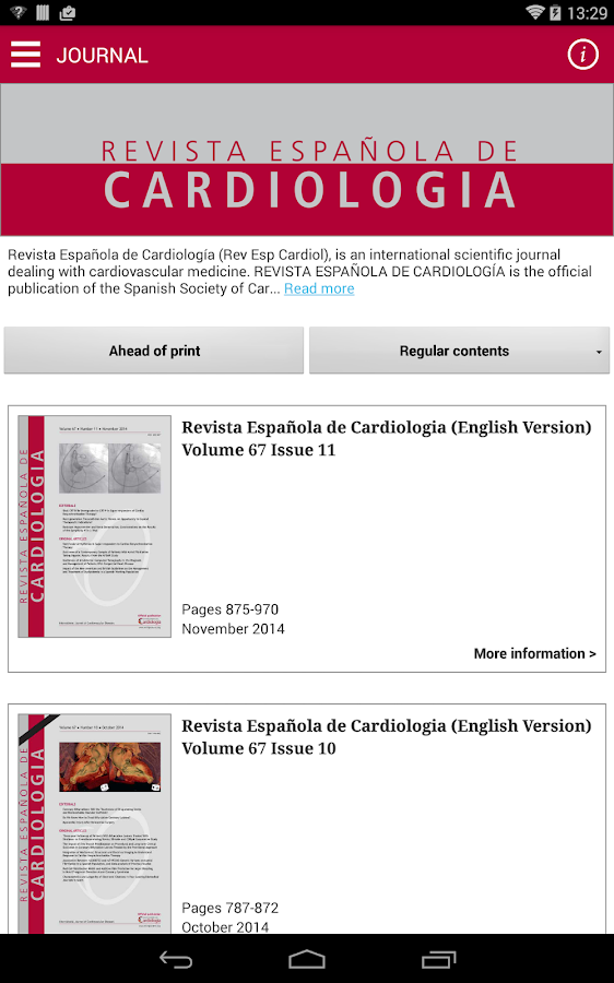 Rev Esp Cardiol (English)- screenshot