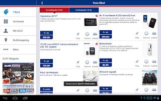 Screenshot of ALDI Danmark