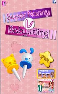 超級保姆 - 嬰兒遊戲