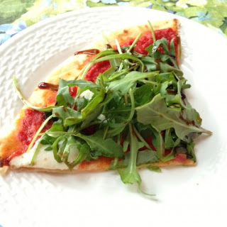 Grilled Pizza Salad with Mozzarella, Arugula, and Flax Meal Recipe