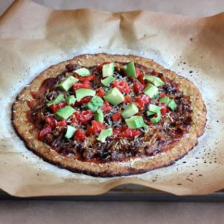 The BEST Dairy Free Cauliflower Pizza Crust