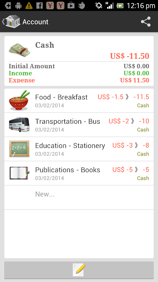 AndroMoney Pro - screenshot