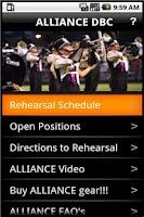 Screenshot of ALLIANCE Mobile