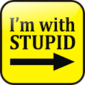 I'm with stupid sign doo-dad logo