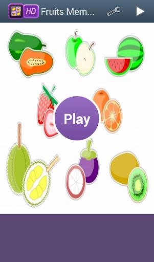 Free Fruits Memory Fun Game