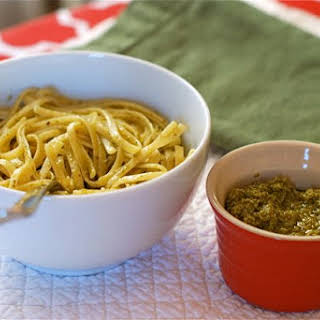 Linguine with Spinach Gremola.