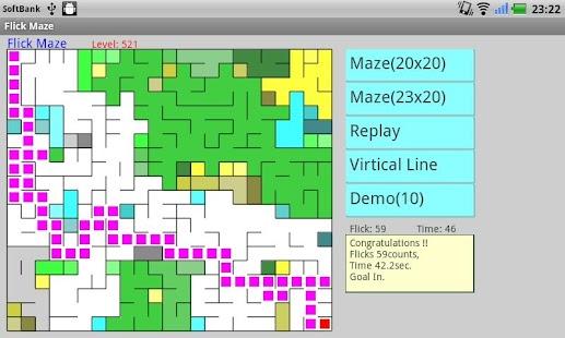 Flick Maze - Time Attack!- screenshot thumbnail