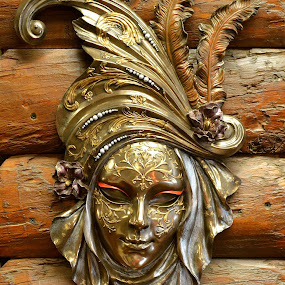 Beautiful Mask by Ed Hanson - Artistic Objects Antiques ( metal, mask )