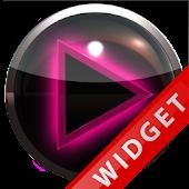 Poweramp Widget Pink Glow