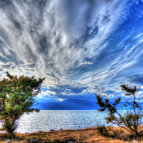 Clouds by Dalibor Jud - Landscapes Cloud Formations ( clouds, adriatic, sky, učka, tree, blue, otok, croatia, sea, krk, hrvatska, relax, tranquil, relaxing, tranquility,  )