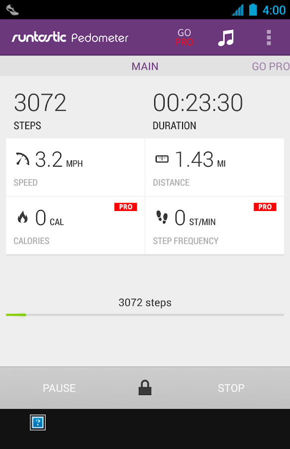 Runtastic Pedometer Step Count - screenshot