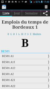 Bordeaux 1 Schedule - screenshot thumbnail