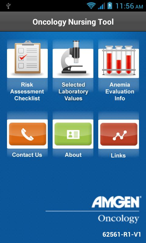 Amgen Oncology Nursing Tool - screenshot