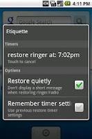 Screenshot of Etiquette