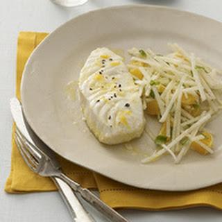 Baked Flounder with Orange-Jicama Slaw Recipe