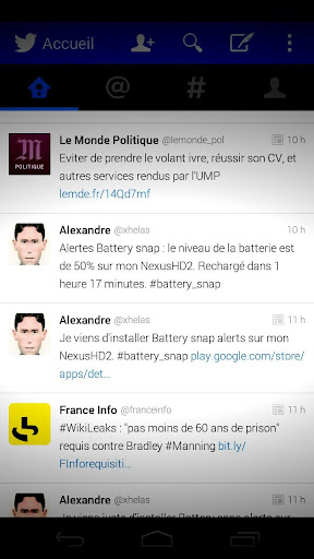 Battery snap alerts