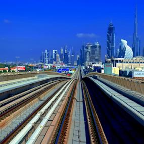 Train Travel by Braggart Reigh - Transportation Railway Tracks ( automobile, train, transportation, railway tracks,  )