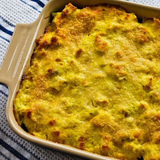Better-than-Mom's Chicken, Broccoli, and Quinoa Casserole with Creamy Curry Sauce.
